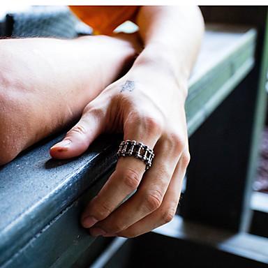 رخيصةأون خواتم-رجالي عصابة الفرقة 1PC فضي الفولاذ المقاوم للصدأ بانغك باروكو Steampunk مناسب للحفلات مناسب للبس اليومي مجوهرات لونين ثمين