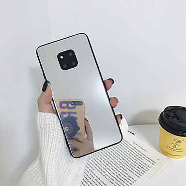 Недорогие Чехлы и кейсы для Galaxy Note-Кейс для Назначение SSamsung Galaxy S9 / S9 Plus / S8 Plus Зеркальная поверхность / Ультратонкий / С узором Кейс на заднюю панель Однотонный ТПУ