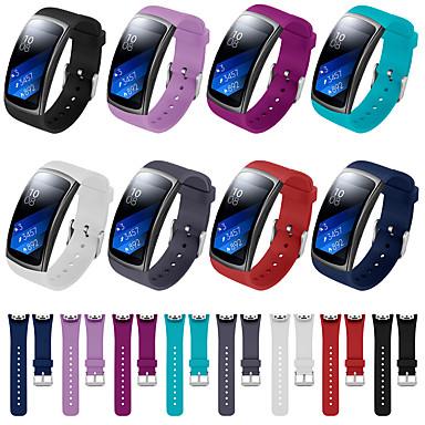 Недорогие Часы для Samsung-Ремешок для часов для Gear Fit Pro / Gear Fit 2 Fitbit Спортивный ремешок силиконовый Повязка на запястье