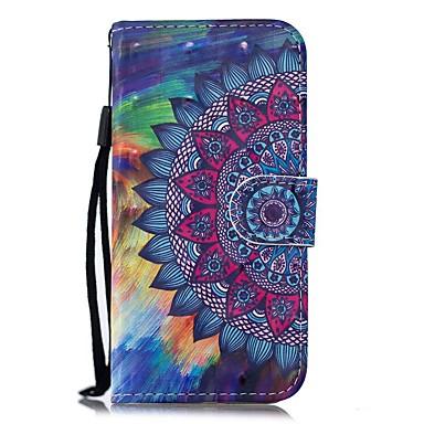 voordelige Galaxy Note-serie hoesjes / covers-hoesje Voor Samsung Galaxy Note 9 / Note 8 / Galaxy Note 10 Portemonnee / Kaarthouder / met standaard Volledig hoesje Bloem PU-nahka