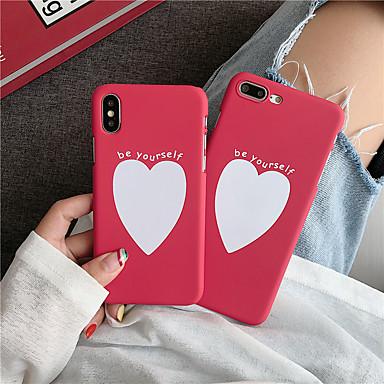 voordelige iPhone-hoesjes-hoesje voor Apple iPhone XS / iPhone XR / iPhone XS Max Frost / Patroon Achterkant Spelen met Apple-logo / Heart PC voor iPhone 6/7/8 / 6plus / 7plus / 8plus / X / XS / XR / XS Max