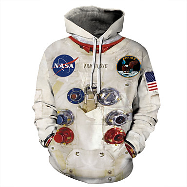 povoljno Muške jakne-Muškarci Ležerne prilike / Halloween Hoodie Color block / 3D / Državne zastave