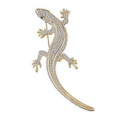 povoljno Broševi-Muškarci Broševi Skulptura Sa životinjama Luksuz pomodan slatko Elegantno Šarene Imitacija dijamanta Broš Jewelry Zlato Pink Za Vjenčanje Dar Ulica Obećanje