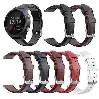 tanie Akcesoria telefoniczne-Watch Band na Vivoactive 3 Garmin Zespół biznesowy Prawdziwa skóra Opaska na nadgarstek