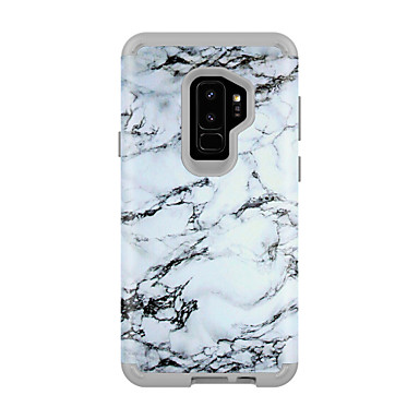 Недорогие Чехлы и кейсы для Galaxy S-Кейс для Назначение SSamsung Galaxy S9 / S9 Plus Защита от удара / Защита от влаги Кейс на заднюю панель Мрамор ПК / силикагель