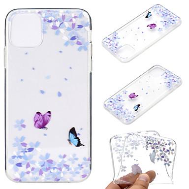 voordelige iPhone-hoesjes-hoesje voor apple iphone 11 / iphone 11 pro / iphone 11 pro max ultradun / transparant / patroon achterkant vlinder tpu zacht