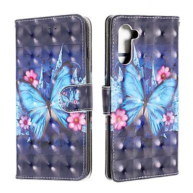 voordelige Galaxy Note-serie hoesjes / covers-hoesje Voor Samsung Galaxy Note 9 / Galaxy Note 10 / Galaxy Note 10 Plus Portemonnee / Kaarthouder / Schokbestendig Volledig hoesje Vlinder PU-nahka