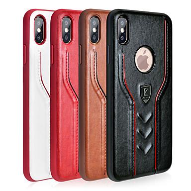 voordelige iPhone-hoesjes-hoesje Voor Apple iPhone XS / iPhone XR / iPhone XS Max Ultradun Achterkant Effen Hard PU-nahka