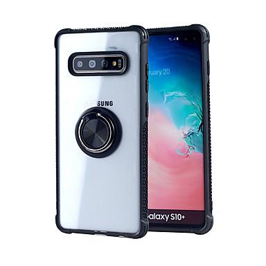 Недорогие Чехлы и кейсы для Galaxy S-Кейс для Назначение SSamsung Galaxy Galaxy S10 / Galaxy S10 Plus / Galaxy S10 E Кольца-держатели / Ультратонкий Кейс на заднюю панель Однотонный ТПУ