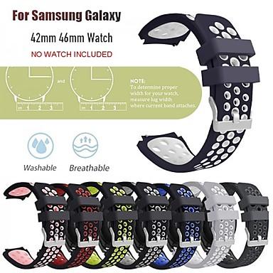 voordelige Smartwatch-accessoires-Horlogeband voor Samsung Galaxy Watch 46 / Samsung Galaxy Watch 42 Samsung Galaxy Klassieke gesp Silicone Polsband