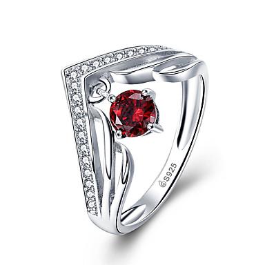رخيصةأون خواتم-خاتم المرأة aaa زركونيا مكعب 1PC الفضة S925 الفضة الاسترليني المجوهرات اليومية الحلو حجم 1.3 * 0.6cm