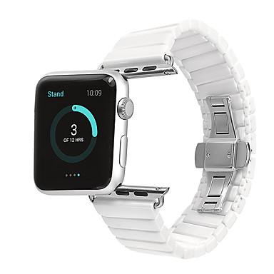 Недорогие Ремешки для Apple Watch-Ремешок для часов для Apple Watch Series 4/3/2/1 Apple Бабочка Пряжка Керамика Повязка на запястье