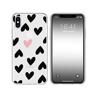 voordelige iPhone 6 Plus hoesjes-hoesje voor iphone x xs max xr xs achterkant zachte hoes tpu creatief patroon hart zachte tpu voor iphone5 5s se 6 6p 6s sp 7 7p 8 8p16 * 8 * 1