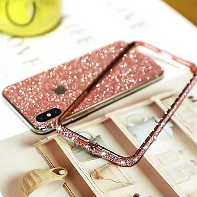 Недорогие Кейсы для iPhone X-чехол для яблока iphone xs / iphone xr / iphone xs max / 7 8 плюс / 6splus / 6s горный хрусталь задняя крышка блестящий блеск металл
