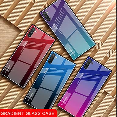 voordelige Galaxy Note-serie hoesjes / covers-hoesje Voor Samsung Galaxy Samsung Note 10 / Galaxy Note 10 Plus Schokbestendig / Ultradun Achterkant Kleurgradatie Gehard glas