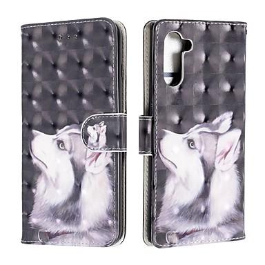 voordelige Galaxy Note-serie hoesjes / covers-hoesje Voor Samsung Galaxy Note 9 / Galaxy Note 10 / Galaxy Note 10 Plus Portemonnee / Kaarthouder / Schokbestendig Volledig hoesje Hond PU-nahka
