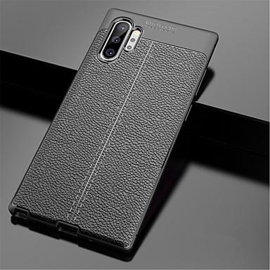 Недорогие Чехлы и кейсы для Galaxy Note-Кейс для Назначение SSamsung Galaxy Note 9 / Note 8 / Galaxy Note 10 Рельефный Кейс на заднюю панель Однотонный ТПУ
