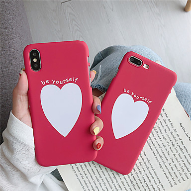 Недорогие Кейсы для iPhone 6-чехол для яблока iphone xs / iphone xr / iphone xs max pattern задняя обложка слово / фраза / сердце пк для iphone 6 6 плюс 6s 6s плюс 7 8 7 плюс 8 плюс x xs