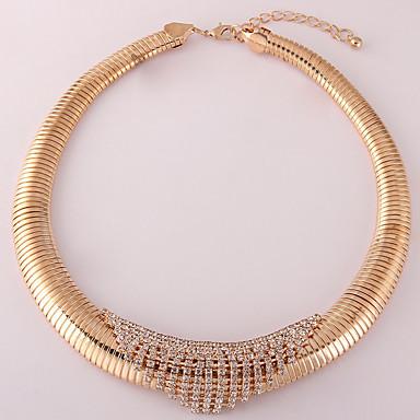 billige Mode Halskæde-Dame Hvid Kvadratisk Zirconium Halskæde geometrisk Vertikal Mode Chrome Sort Guld Sølv 49 cm Halskæder Smykker 1pc Til Daglig