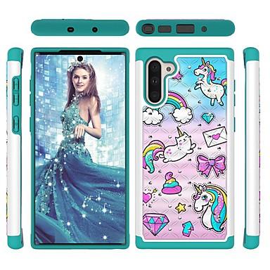 voordelige Galaxy Note-serie hoesjes / covers-hoesje Voor Samsung Galaxy Note 9 / Galaxy Note 10 / Galaxy Note 10 Plus Schokbestendig / Strass / Patroon Achterkant dier TPU / PC