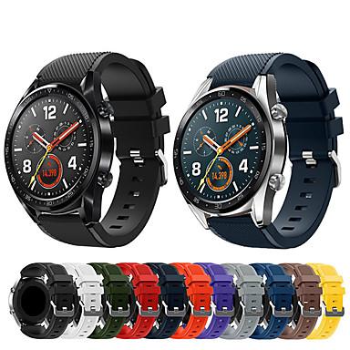 Недорогие Аксессуары для смарт-часов-Ремешок для часов для Huawei Watch GT Huawei Классическая застежка силиконовый Повязка на запястье