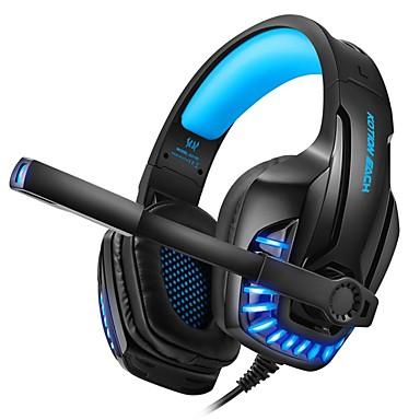 Недорогие Наушники для геймеров-Kotion Each G9100 игровые наушники со световым микрофоном стерео наушники с глубокими басами для ПК компьютер геймера ноутбука проводная гарнитура