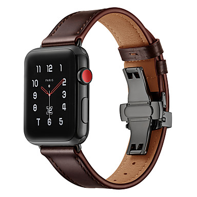 voordelige Smartwatch-accessoires-Horlogeband voor Apple Watch Series 4/3/2/1 Apple Sportband Echt leer Polsband