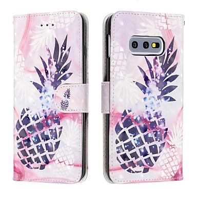 billiga Fodral och skal till Galaxy S-serien-fodral Till Samsung Galaxy S9 / S9 Plus / Galaxy S10 Plånbok / Korthållare / Stötsäker Fodral Mat PU läder