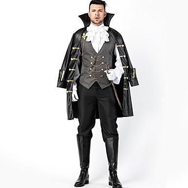cheap Latin Dancewear-Pirate Costume Men's TV / Movie Halloween Performance Theme Party Costumes Men's Dance Costumes Terylene Split Joint