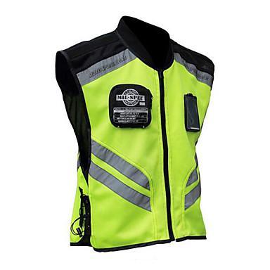 Недорогие Мотоциклетные куртки-мотоцикл езда светоотражающий жилет команды униформа флуоресцентный защитный жилет