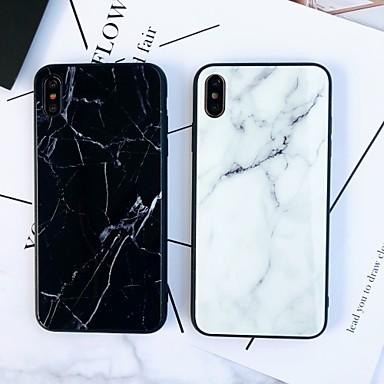 voordelige iPhone 6 Plus hoesjes-hoesje Voor Apple iPhone XS / iPhone XR / iPhone XS Max Spiegel / Ultradun Achterkant Marmer TPU