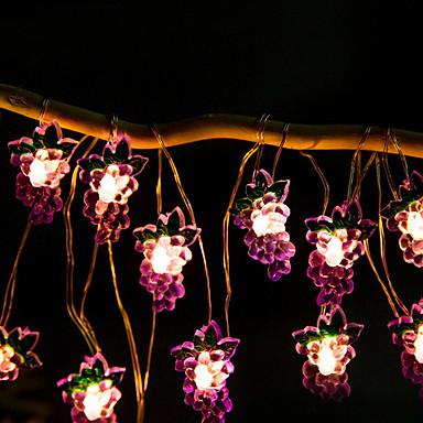 2m svjetiljke od voća od grožđa 20 leda toplo bijelo kućno ukrasno 5v 1set