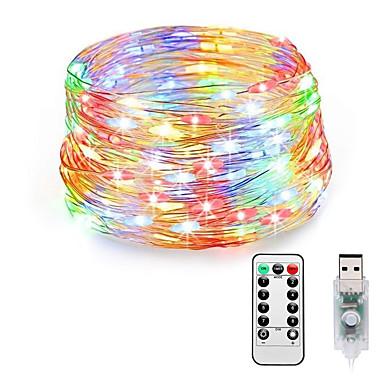 loende vila svjetla priključite u 8 načina 20m 200 vodio usb string svjetla s adapterom daljinski tim vodootporan ukrasna svjetla za spavaću sobu božićni svadbeni dom spavaonica unutarnji vanjski