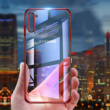 voordelige Galaxy Note-serie hoesjes / covers-slanke transparante transparante bumper TPU siliconen beplating beschermhoes voor Samsung Galaxy Note 10 Pro Note 10 Note 9 Note 8 case