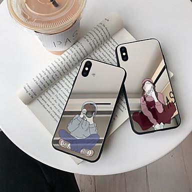 Недорогие Чехлы и кейсы для Galaxy Note-Кейс для Назначение SSamsung Galaxy S9 / S9 Plus / S8 Plus Зеркальная поверхность / Ультратонкий / С узором Кейс на заднюю панель Мультипликация ТПУ