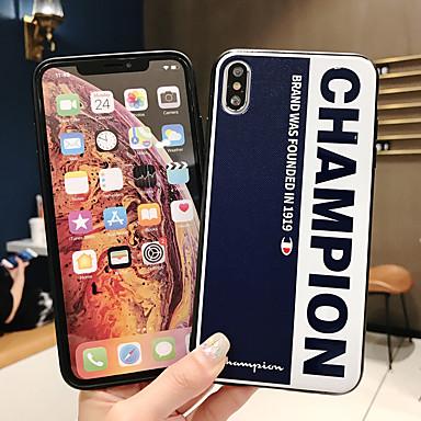 Недорогие Кейсы для iPhone 7 Plus-Кейс для Назначение Apple iPhone XS / iPhone XR / iPhone XS Max Ультратонкий / С узором Кейс на заднюю панель Слова / выражения ТПУ