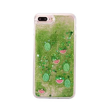 Недорогие Кейсы для iPhone X-чехол для яблока iphonex / iphonexs / iphonexr / iphone 8 plus / iphone 8 прозрачный / пыль / водонепроницаемый зеленый фрукт флэш жидкость сплошной цвет мягкий тпу для iphone 6 / iphone 6 plus /