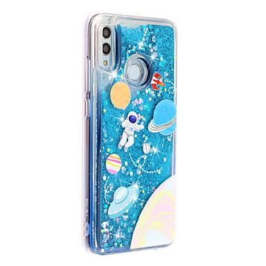 Недорогие Чехлы и кейсы для Xiaomi-Кейс для Назначение Huawei / Xiaomi Huawei P20 lite / Huawei P30 / Huawei P30 Pro Движущаяся жидкость / С узором / Сияние и блеск Кейс на заднюю панель Цвет неба / Сияние и блеск ТПУ