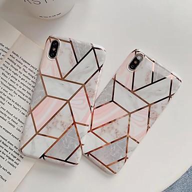 voordelige iPhone-hoesjes-hoesje Voor Apple iPhone XS / iPhone XR / iPhone XS Max Schokbestendig Achterkant Geometrisch patroon / Marmer TPU