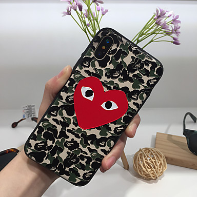 voordelige iPhone-hoesjes-hoesje Voor Apple iPhone XS / iPhone XR / iPhone XS Max Ultradun / Mat / Patroon Achterkant Woord / tekst TPU / PC