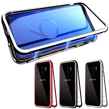 voordelige Galaxy S-serie hoesjes / covers-hoesje Voor Samsung Galaxy Galaxy S10 / Galaxy S10 Plus Magnetisch Volledig hoesje Effen Gehard glas