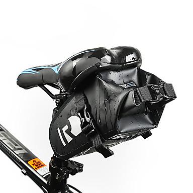 olcso Kerékpár táskák-1.6 L Nyeregtáska Vízálló Hordozható Viselhető Kerékpáros táska Bőr PVC 400D Nylon Kerékpáros táska Kerékpáros táska Kerékpározás Szabadtéri gyakorlat Kerékpár