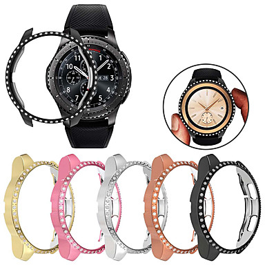 voordelige Smartwatch-accessoires-vrouwen diamant pc beschermhoes voor Samsung Galaxy horloge 42 mm hoes lichtgewicht bumper voor uitrusting s3 dunne schaal accessoires