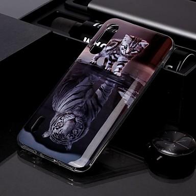 Недорогие Чехлы и кейсы для Xiaomi-Кейс для Назначение Xiaomi Xiaomi Redmi Note 7 / Xiaomi Redmi Note 7 Pro / Redmi K20 Pro IMD / С узором Кейс на заднюю панель Кот ТПУ