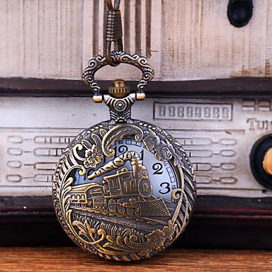 رخيصةأون ساعات الرجال-رجالي ساعة جيب كوارتز فينتاج نقش جوفاء إبداعي تصميم جديد تناظري-رقمي عتيق - برونز