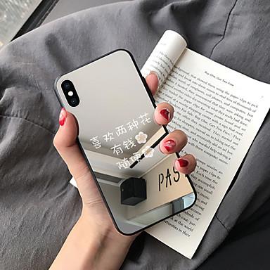 Недорогие Чехлы и кейсы для Galaxy Note-Кейс для Назначение SSamsung Galaxy S9 / S9 Plus / S8 Plus Зеркальная поверхность / Ультратонкий / С узором Кейс на заднюю панель Слова / выражения ТПУ