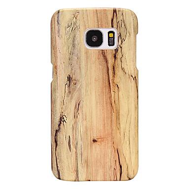 رخيصةأون حافظات / جرابات هواتف جالكسي S-غطاء من أجل Samsung Galaxy S8 Plus / S7 edge / S7 نحيف جداً غطاء خلفي خشب جلد PU / الكمبيوتر الشخصي