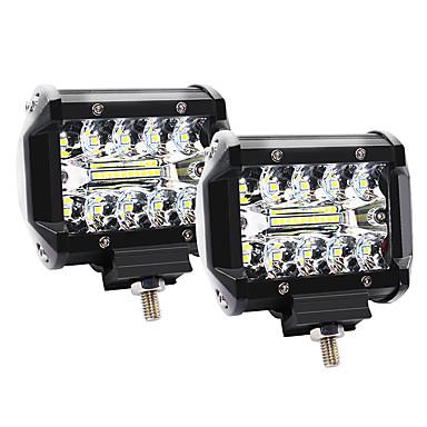 Недорогие Огни для авто-4 дюйма 60 Вт 3 ряда светодиодные фонари рабочий свет привода внедорожные фонари фонари на крыше - 2шт