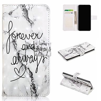 voordelige Galaxy Note-serie hoesjes / covers-hoesje Voor Samsung Galaxy Galaxy Note 10 / Galaxy Note 10 Plus Portemonnee / Kaarthouder / Schokbestendig Volledig hoesje Marmer PU-nahka