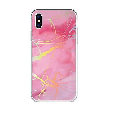 voordelige iPhone 5 hoesjes-hoesje Voor Apple iPhone XS / iPhone XR / iPhone XS Max Patroon Achterkant Marmer / Kleurgradatie TPU